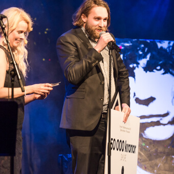 DayCape–Anton Håkanson håller tacktal på The Brewhouse Award 2015
