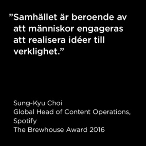 Citat Sung-Kyu Choi, The Brewhouse Award 2016