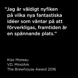 Citat Klas Moreau, The Brewhouse Award 2016