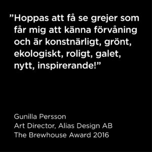 Art director i juryn för The Brewhouse Award